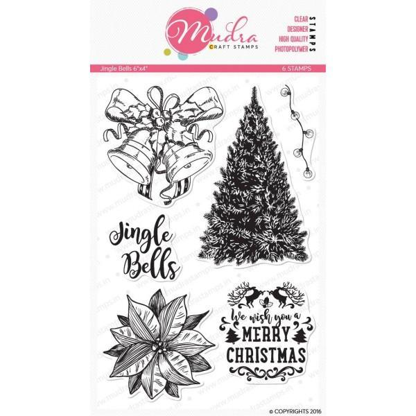 Mudra 6x4 inch Stamp Set - Jingle Bells