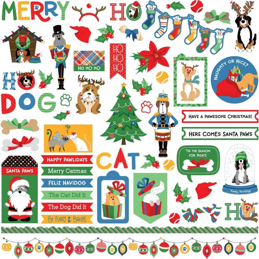 PhotoPlay Muttcracker Stickers 12 inches X12 inches - Elements