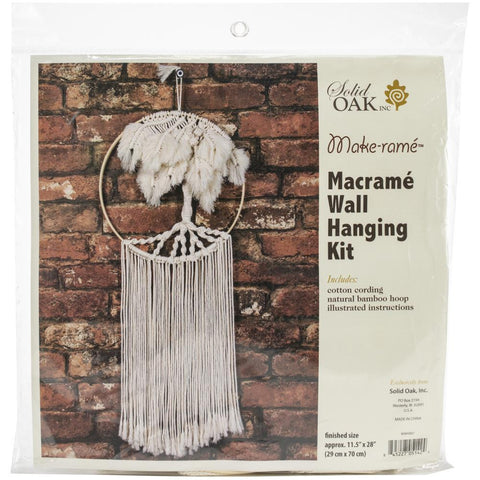 Solid Oak - Macrame Wall Hanger Kit - Palm Tree