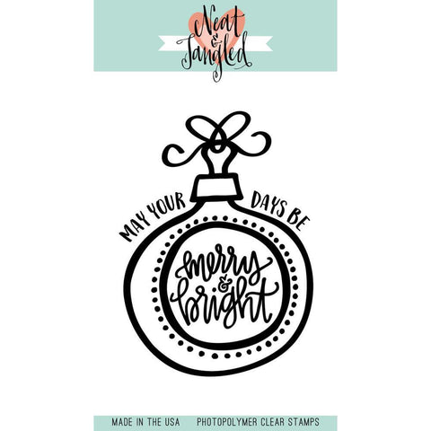 Neat & Tangled Clear Stamps 3inch X4inch Merry & Bright Ornaments
