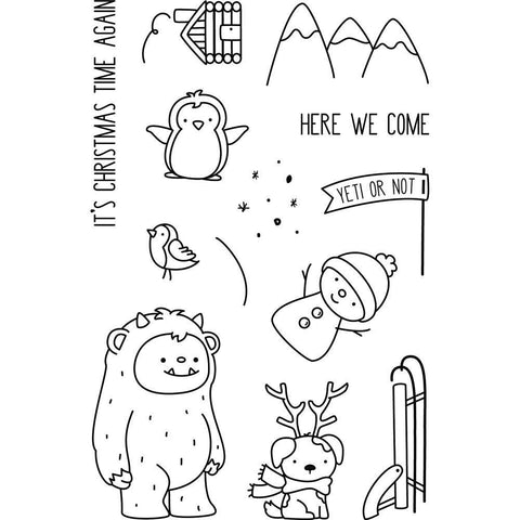 Neat & Tangled Clear Stamps 4 inch X6 inch Get Yeti