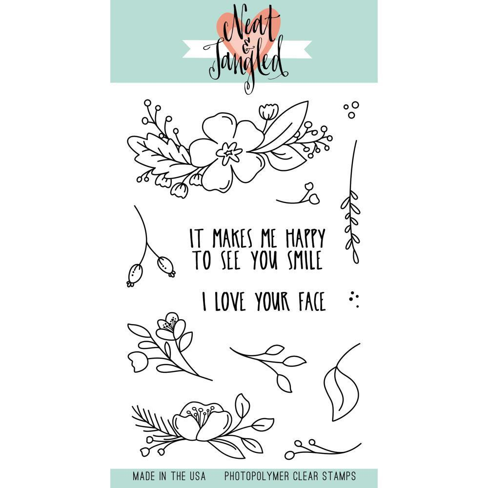 Neat & Tangled Clear Stamps 4inch X6inch Friendly Florals