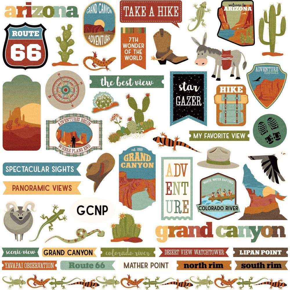PhotoPlay National Parks Grand Canyon Stickers 12in x 12in Elements