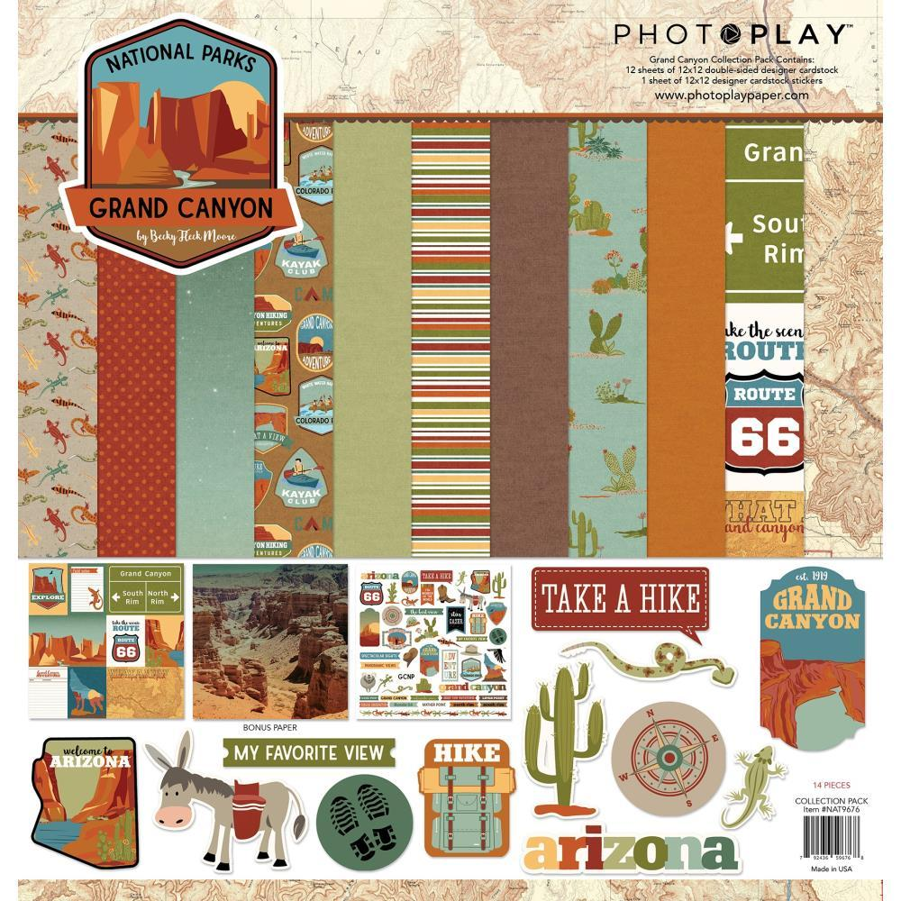 PhotoPlay Collection Pack 12in x 12in - National Parks Grand Canyon