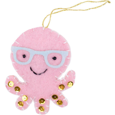 Fabric Editions Needle Creations Felt Ornament Kit - Owl