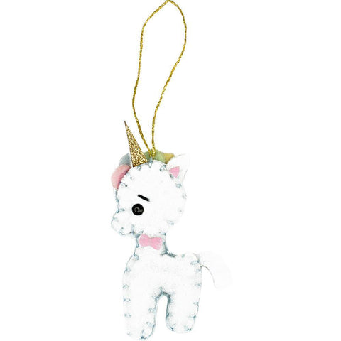Fabric Editions Needle Creations Felt Ornament Kit - Unicorn
