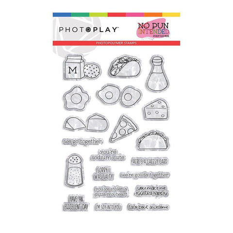 Photoplay - Photopolymer 4x6 inch Stamps - Foodie, No Pun Intended