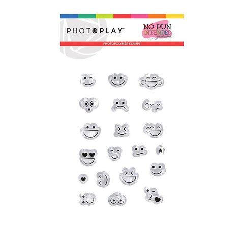 Photoplay - Photopolymer 2x3 inch Stamp - Smiley Faces, No Pun Intended