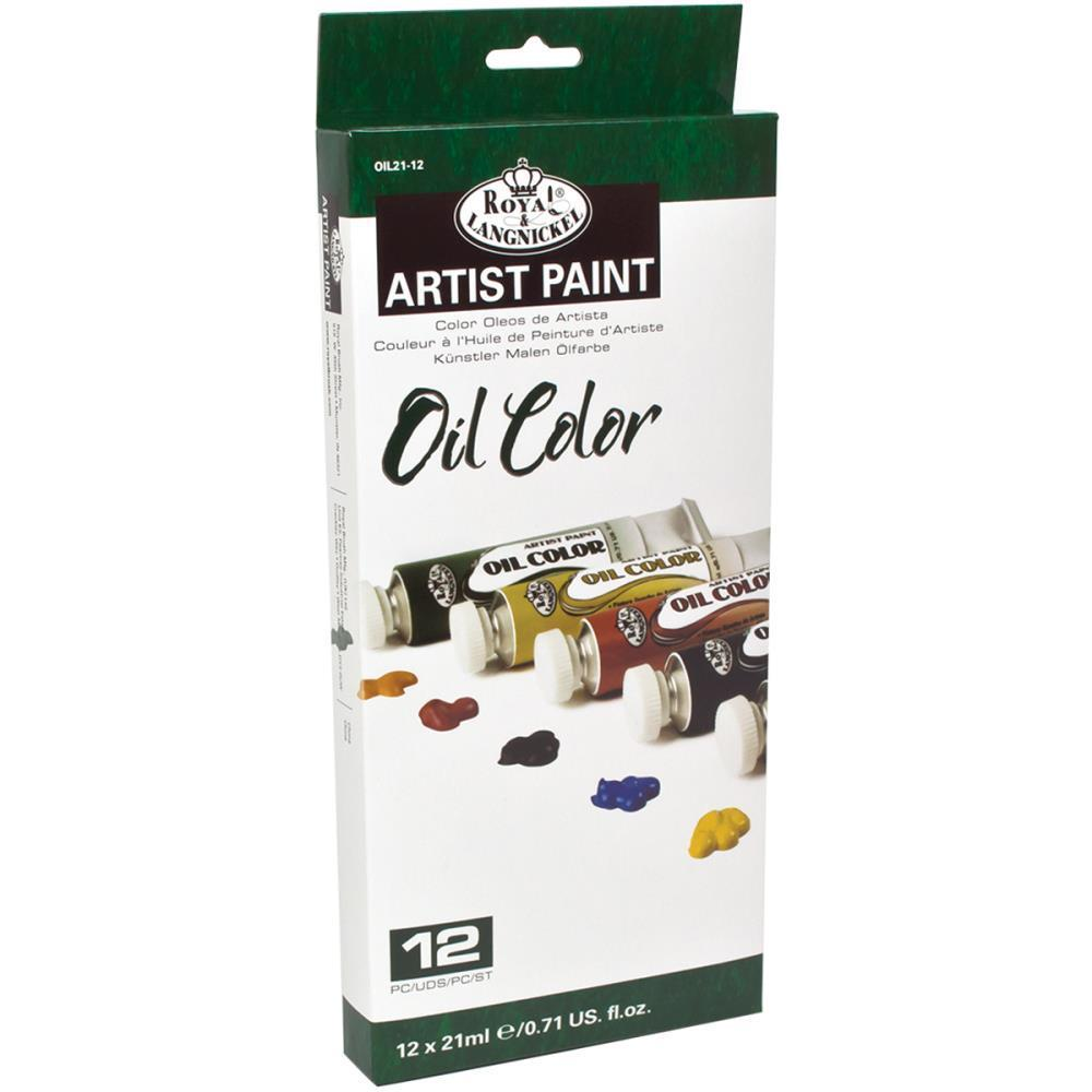Royal Brush - Oil Paints 21ml 12 pack Assorted Colors