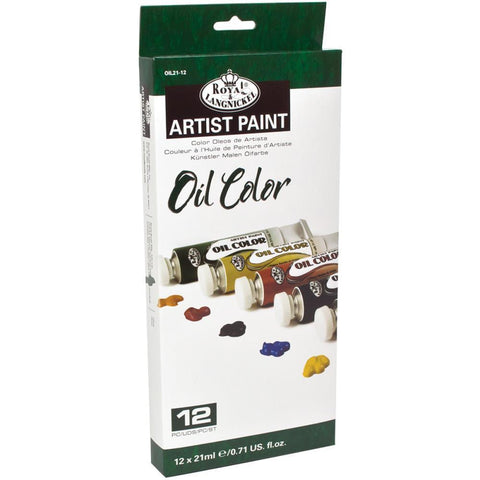 Oil Paints 21ml 12 pack - Assorted Colours