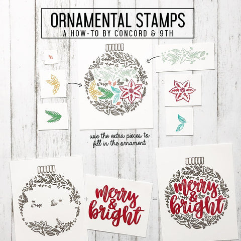 Concord & 9th Clear Stamps 6x6 inch - Ornamental
