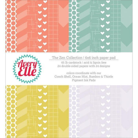 Avery Elle 6X6 Inch Paper Pad - The Zen Collection