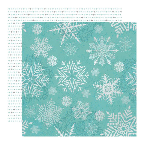 Kaisercraft - Double-Sided Cardstock 12inX12in - Falling Snowflakes