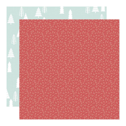 Kaisercraft - Peppermint Kisses 12x12 inch Scrapbook Paper - Holly Jolly