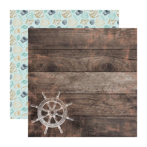 Kaisercraft - D/Sided Cardstock 12in x 12in 150 Gsm - Tide Pool
