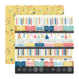 Kaisercraft - Oh Happy Day! Collection - Double-Sided Cardstock 12in X 12in - Party Popper