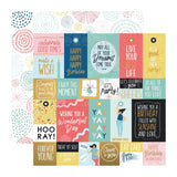 Kaisercraft - Oh Happy Day! Collection - Double-Sided Cardstock 12in X 12in - Bright Bursts