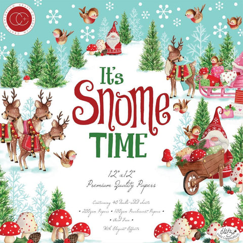Craft Consortium - D/Sided Paper Pad 12x12 inch 40 pack - Its Snome Time