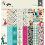 Authentique D/S Cardstock Pad 12x12 inch 24 pack - Party