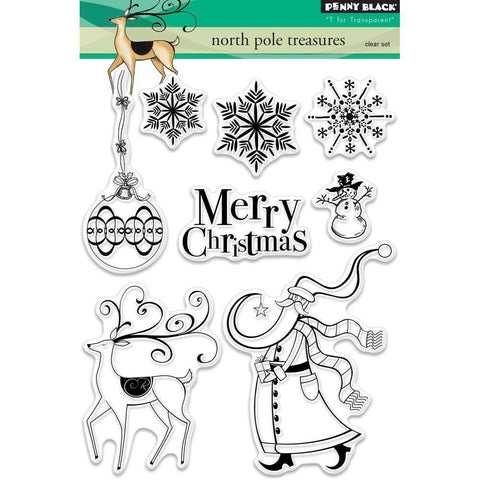 Penny Black Clear Stamps 5x7 inch - North Pole Treasures