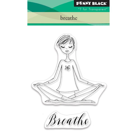Penny Black Clear Stamps - Breathe