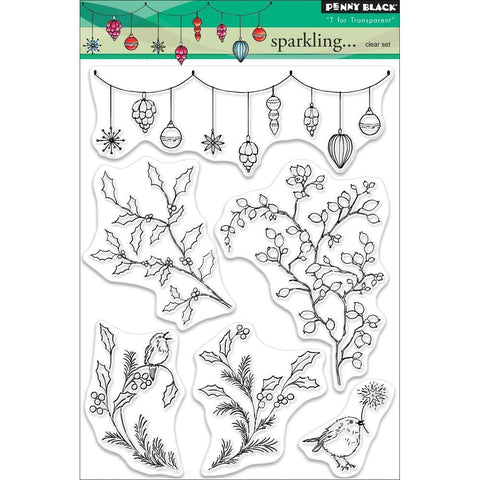 Penny Black Clear Stamps - Sparkling... 5x6.5 inch