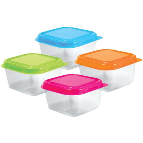 Multicraft Imports - Bead Storage Containers with Lids 2.5 inch X1.5 inch - 4 pack