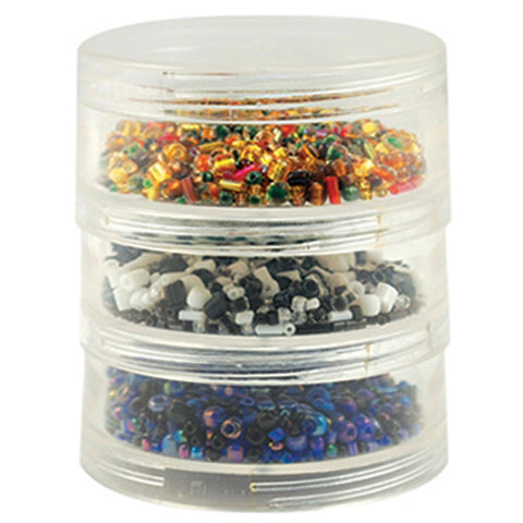 Multicraft Imports - Bead Storage Screw-Stack Canisters 2.75 inch X1 inch 3 pack