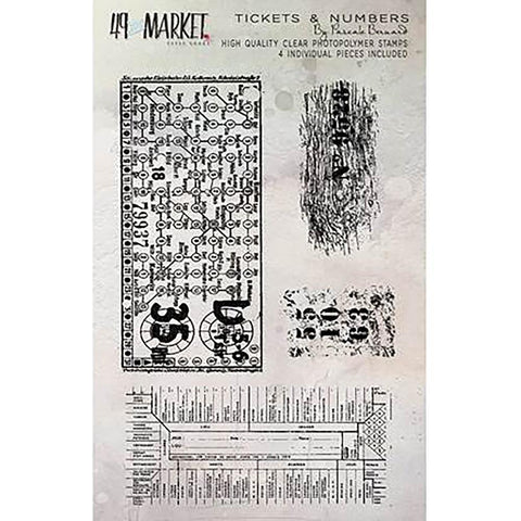 49 And Market Clear Stamps 4x6 inch - Pascales Tickets & Numbers
