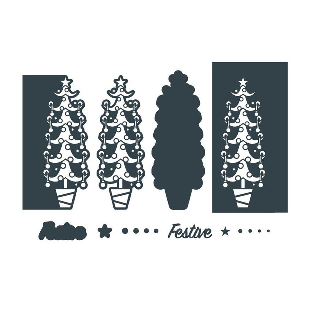 The Paper Boutique Border Die - Festive Tree