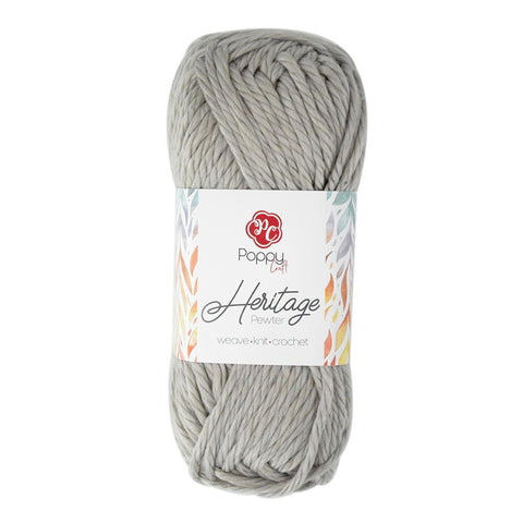 Poppy Crafts Heartfelt Heritage 16 Ply Acrylic Yarn 142g - Pewter