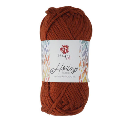 Poppy Crafts Heartfelt Heritage 16 Ply Acrylic Yarn 142g - Russet