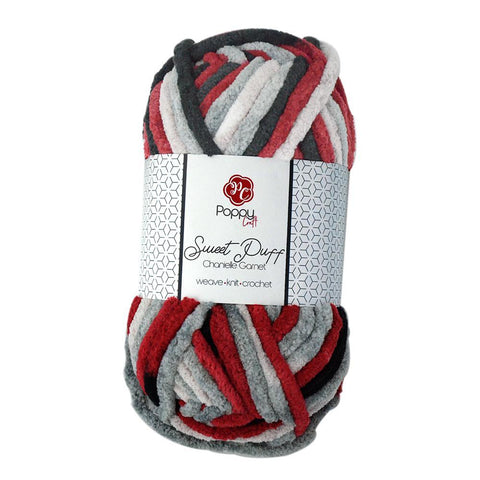 Poppy Crafts Sweet Puff Super Chunky Chenille Yarn - 16 Ply 100g - Garnet