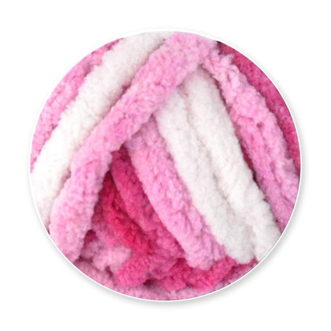 Poppy Crafts Sweet Puff Super Chunky Chenille Yarn - 16 Ply 100g - Magenta