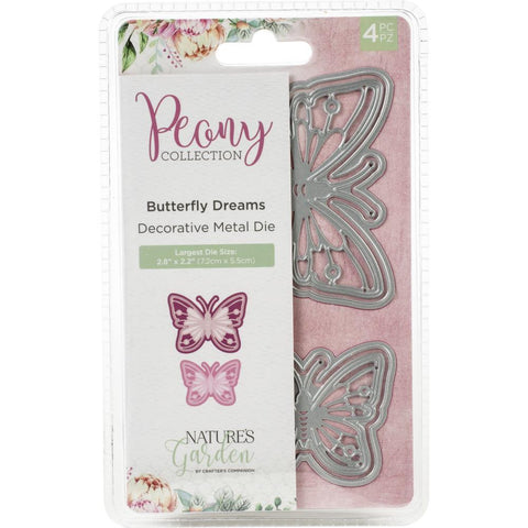 Crafter's Companion - Natures Garden Peony Dies 4 pack - Butterfly Dreams