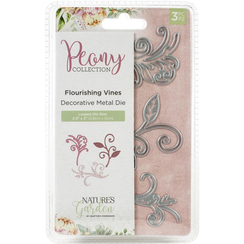 Crafter's Companion - Nature's Garden Peony Dies 3 pack - Flourishing Vines