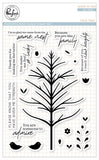 Pinkfresh Studio Clear Stamp Set 4inchX6inch Folk Tree
