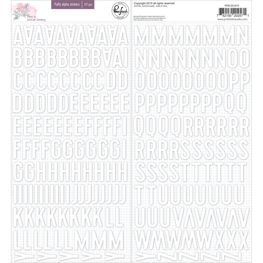 Pinkfresh Studio - Puffy Alpha Stickers - Just A Little Lovely, 217 pack