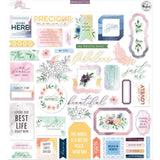 Pinkfresh Studio - Cardstock Die-Cuts - Just A Little Lovely, 47 pack