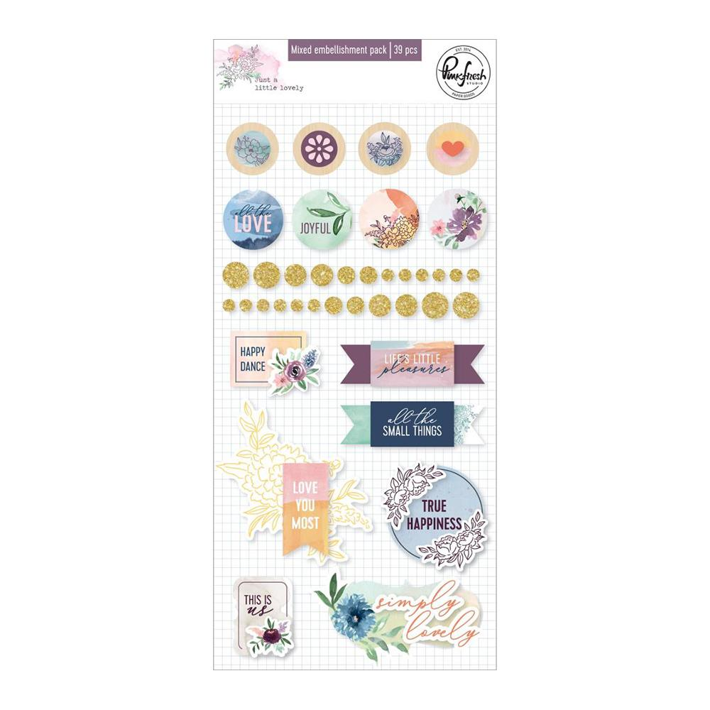 Pinkfresh Studio - Mixed Embellishment Pack - Just A Little Lovely