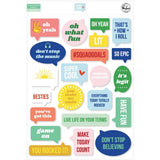 Pinkfresh Studio Acetate Speech Bubbles Die-Cuts - Super Cool