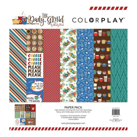 ColorPlay Collection Pack 12x12 inch - Daily Grind + Bonus Pattern