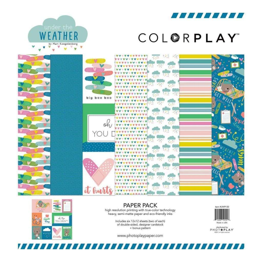 ColorPlay Collection Pack 12x12 inch - Under The Weather + Bonus Pattern