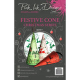 Pink Ink Designs - A5 Clear Stamp - Festive Cone