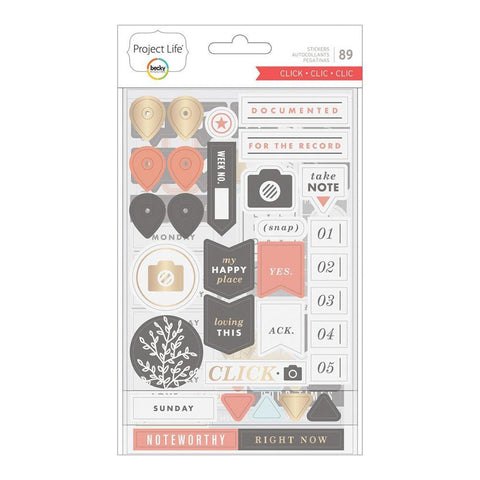 Project Life - Chipboard Stickers - Click Edition