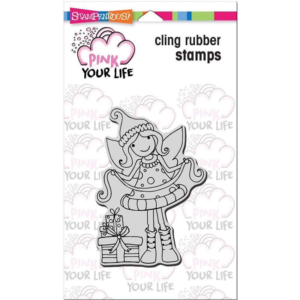 Stampendous Pink Your Life Cling Stamp 6.5 inch X4.5 inch Gift Wrapping