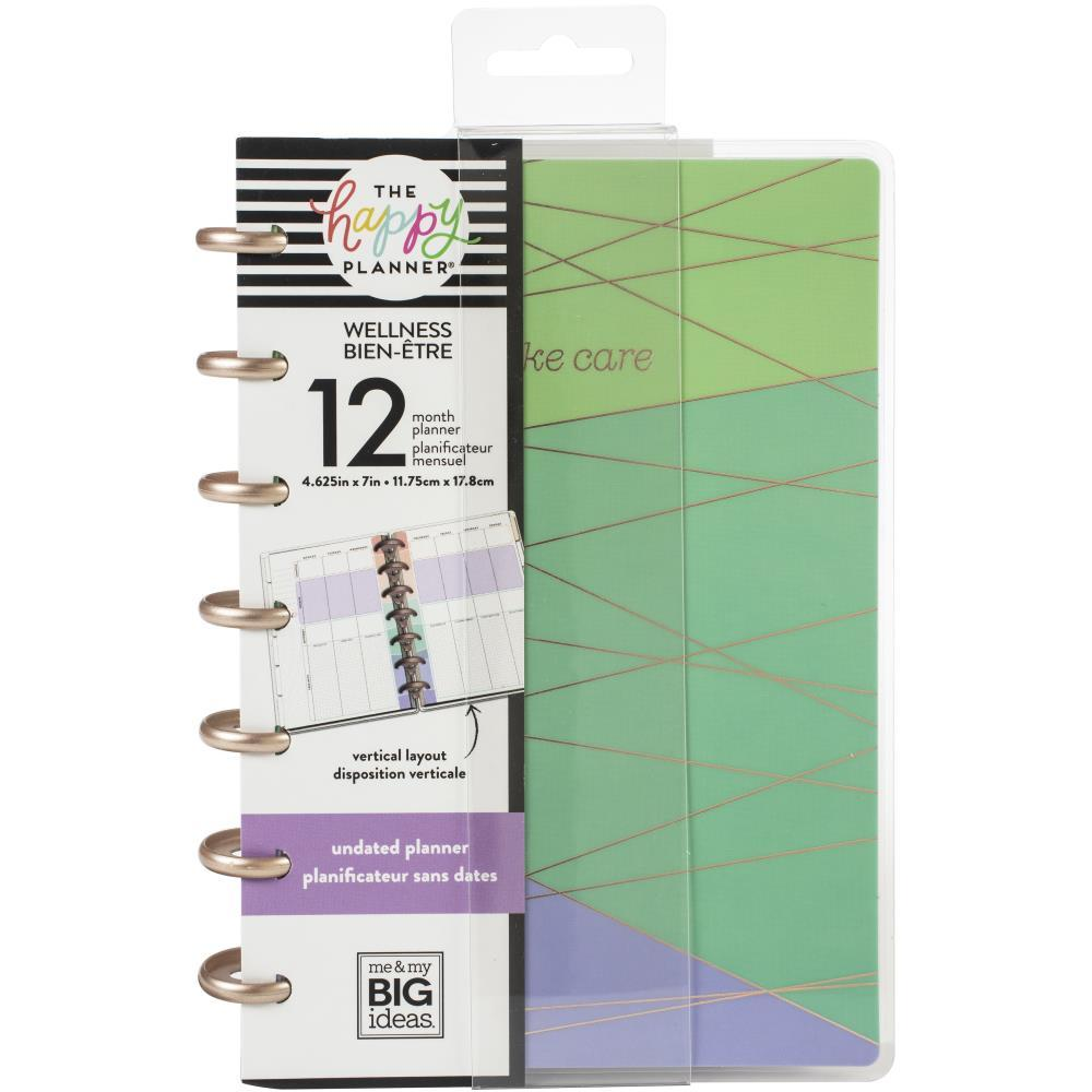 Happy Planner 12-Month Undated Mini Planner 7in x 4.625in - Wellness