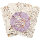 Prima Marketing - Travellers Journal Passport Refill Notebook 3 pack - Pretty Pale, Monthly/Weekly/Blank