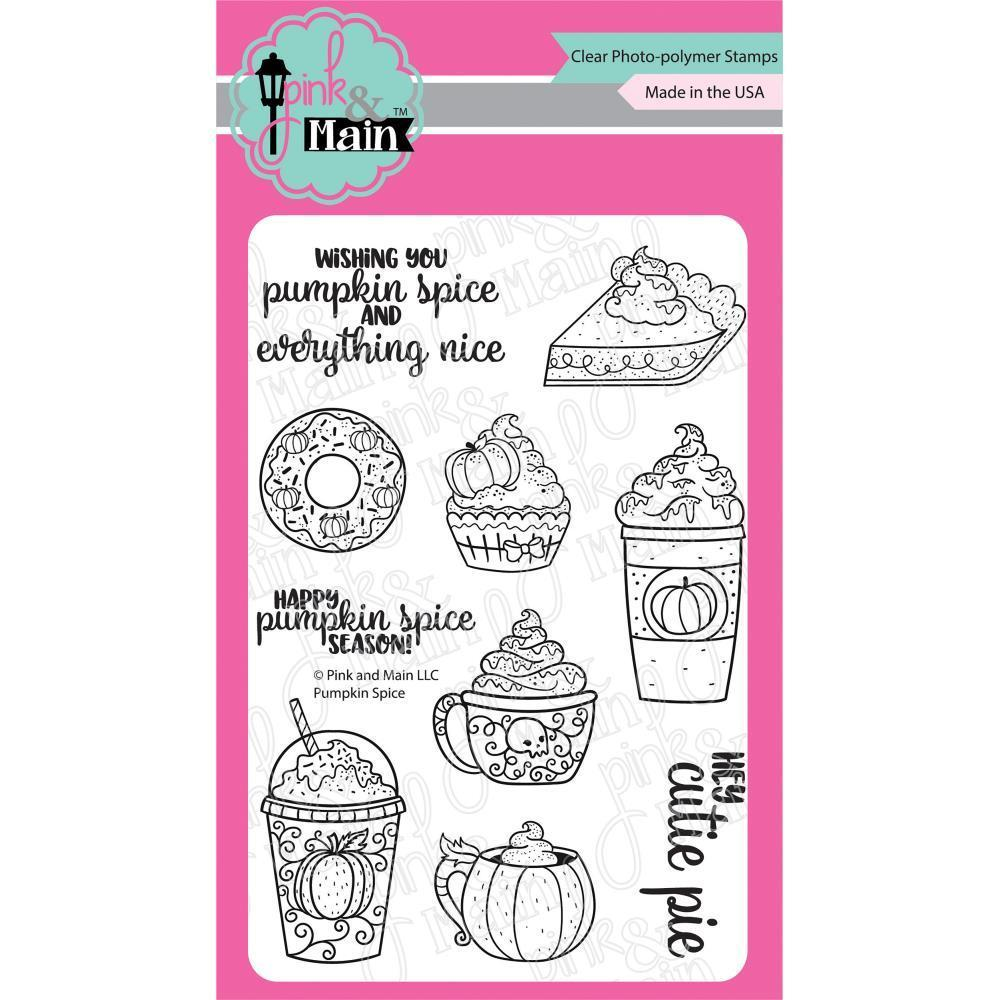 Pink & Main Clear Stamps 4x6 inch - Pumpkin Spice