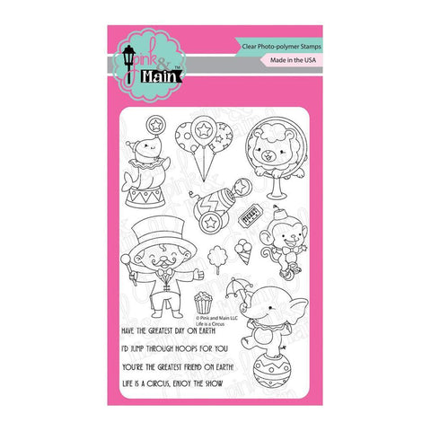 Pink & Main Clear Stamps 4x6inch - Life Is A Circus